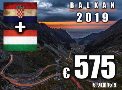 Balkan [Split / Boedapest] 6-9 tm 15-9